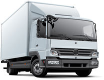 Europeisk leveranslastbil Arkivfoto