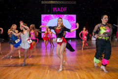 Europeisk mästerskap WADF för konstnärlig dans Fotografering för Bildbyråer