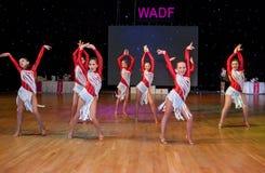 Europeisk mästerskap WADF för konstnärlig dans Arkivbilder