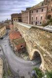 europeisk medeltida town Royaltyfria Foton