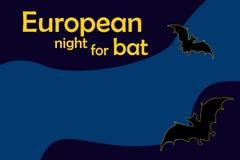 Europeisk natt för slagträ Royaltyfri Bild