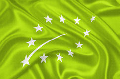 Europeisk ny organisk logo Arkivfoto