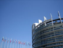 europeisk parlament Royaltyfria Bilder