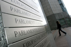 europeisk parlament royaltyfri foto