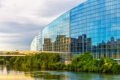 europeisk parlament strasbourg Fotografering för Bildbyråer