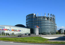 europeisk parlament strasbourg Royaltyfria Bilder