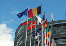 europeisk parlament strasbourg Royaltyfria Foton