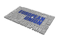 europeisk pusselunion Royaltyfri Bild