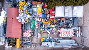 Europeisk samling för trafiktecken Tecken av fara Obligatorisk si Royaltyfria Bilder