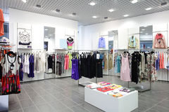 Europeisk splitterny kläder shoppar arkivfoton
