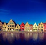 Europeisk stad. Bruges (Brugge), Belgien Arkivbild