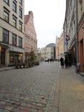 Europeisk stad latvia riga arkivbild