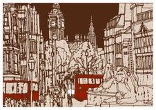 Europeisk stad London, huvudstad av England royaltyfri bild