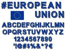 Europeisk stilsort för facklig flagga Royaltyfri Fotografi