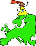 europeisk unge stock illustrationer