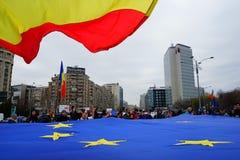 Europeisk union 60 år årsdag, Bucharest, Rumänien Arkivbild