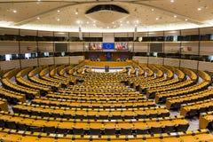 Europeisk union Bryssel Belgien för flaggaBrexit Europaparlamentet Royaltyfria Foton