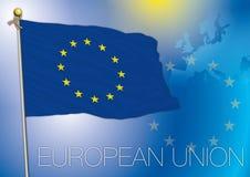 Europeisk union, euflagga, Europa Arkivbild