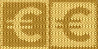 Europeisk valuta, eurotecken, symbol Arkivbild