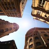 Europeiska byggnader Fotografering för Bildbyråer