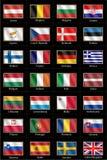 Europeiska fackliga flaggor 2014 Royaltyfri Bild