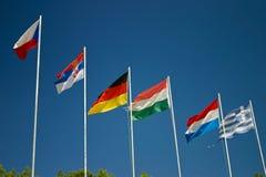 europeiska flaggor Arkivfoton