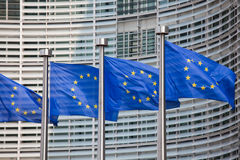 Europeiska flaggor Arkivfoto