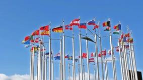 europeiska flaggor lager videofilmer