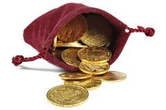 Europeiska guld- mynt Arkivfoto