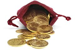 Europeiska guld- mynt Arkivbilder