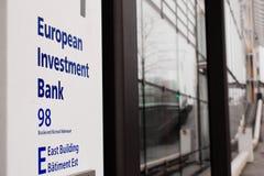 Europeiska investmentbankhögkvarter i Luxembourg arkivfoto