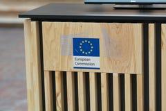 Europeiska kommissionen på marknaden för film för Berlinale ` s EFM den europeiska Royaltyfria Bilder