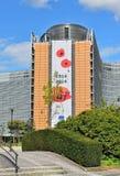 Europeiska kommissionenhögkvarter i Bryssel Arkivfoto