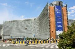 Europeiska kommissionenhuvudbyggnad Arkivfoton