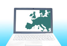 europeiska kommunikationer Royaltyfri Bild