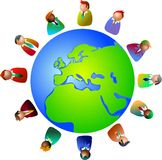 europeiska ledare stock illustrationer