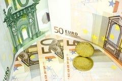 Europeiska pengar 14 Fotografering för Bildbyråer