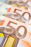 europeiska pengar Royaltyfria Bilder