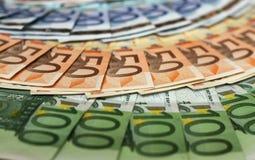 europeiska pengar Arkivbilder