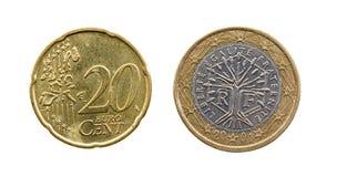 europeiska pengar Royaltyfri Fotografi