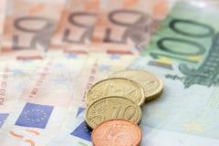 Europeiska pengar 5 arkivfoto