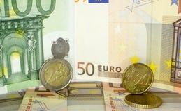 Europeiska pengar 21 fotografering för bildbyråer