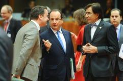 Europeiska rådettoppmöte Royaltyfri Bild
