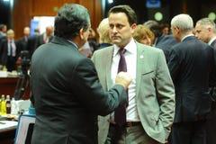 Europeiska rådettoppmöte Arkivbild