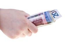 europeiska sedlar Arkivfoton