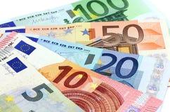 Europeiska sedlar, eurovaluta från Europa, euro Royaltyfri Fotografi