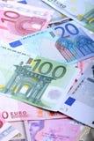 Europeiska sedlar, eurovaluta från Europa, euro Arkivbild
