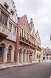 Europeiska stilbyggnader Arkivfoto