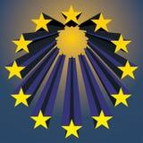 europeiska stjärnaunioner vektor illustrationer