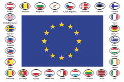 Europeiska union royaltyfri fotografi